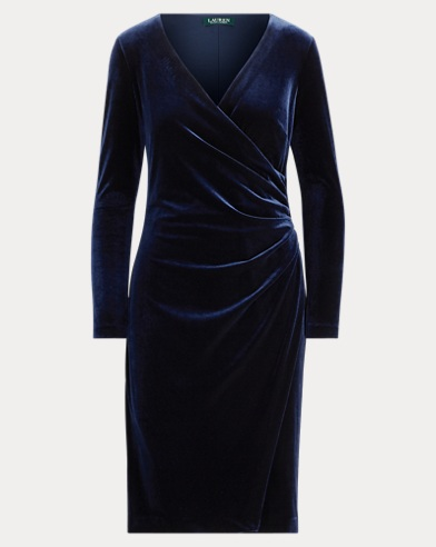 Velvet Surplice Dress