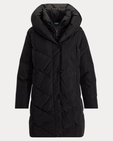 Chevron-Quilted Down Jacket