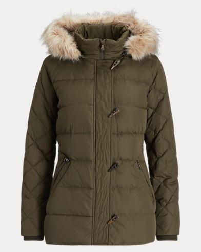 Faux-Fur-Trim Jacket