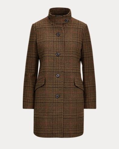 Guncheck Wool-Blend Coat