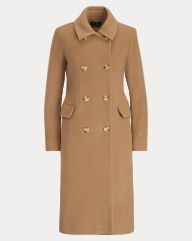 Wool-Blend Trench Coat