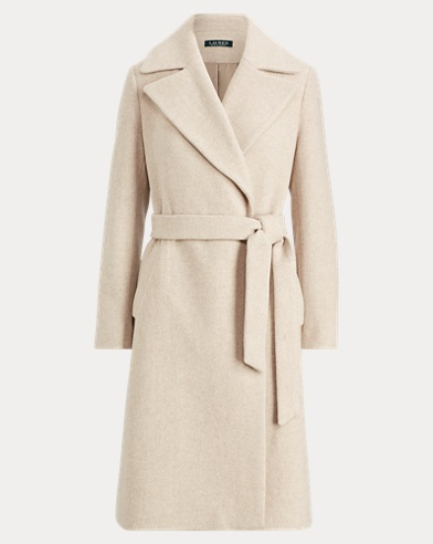 Wool-Blend Belted Coat