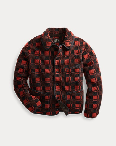 Plaid Jacquard Fleece Jacket