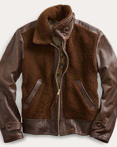 Leather-Shearling Jacket