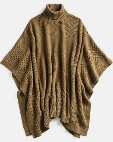 Wool-Cashmere Poncho