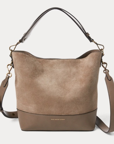 Small Suede Leather Hobo Bag