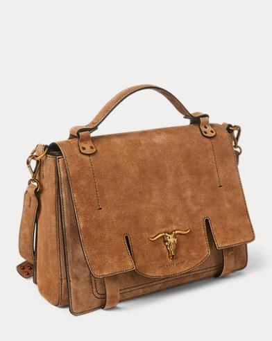fdecffdede Suede Schooly Bag. Polo Ralph Lauren