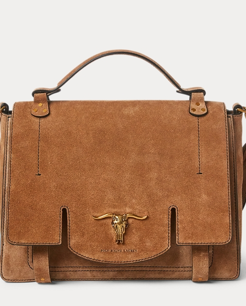 cb5253927a Polo Ralph Lauren Suede Schooly Bag 1