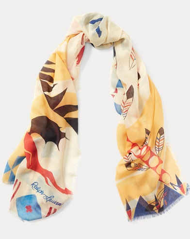 Wild Horses Wool-Blend Scarf