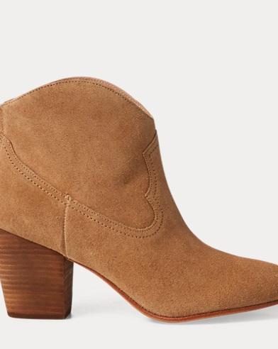 Stivali Mazie da cowboy in camoscio