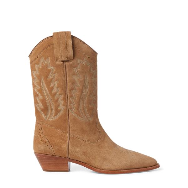Ralph Lauren Maila Cowboy Boot Bisque 10