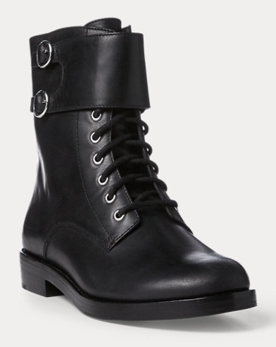 Saige Leather Combat Boot
