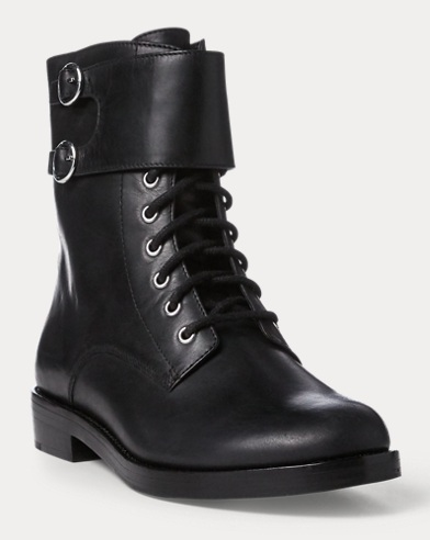 Saige Leather Combat Boot