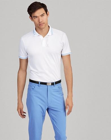 Custom Slim Fit Jacquard Polo