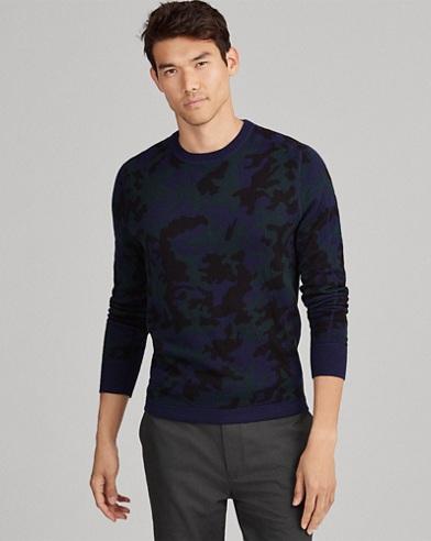 Camo Wool-Blend Sweater
