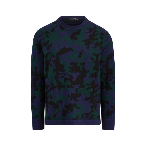 Ralph Lauren Camo Wool-Blend Sweater Blackwatch Rlx Camo Xs