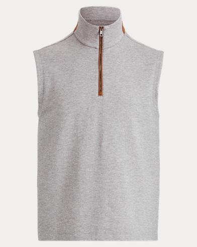 Cotton-Blend-Fleece Vest