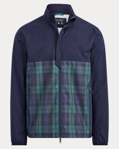 Packable Tartan Windbreaker