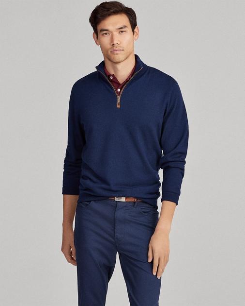 fe5c83aaf Merino Wool Half-Zip Sweater