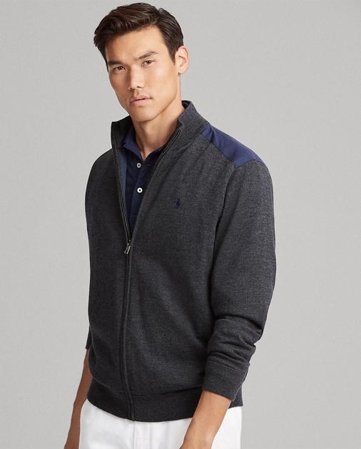 f47792ee6 Merino Wool Full-Zip Sweater