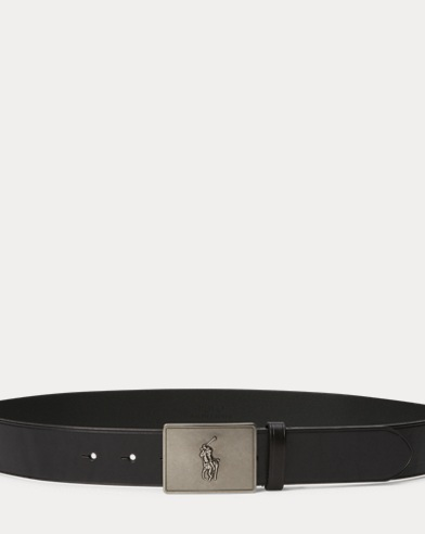 Pony-Plaque Vachetta Belt