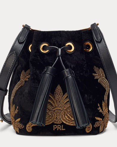 Bullion Velvet Bucket Bag