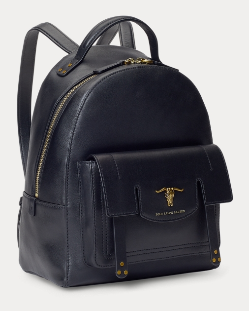 372114a50d Steer-Head Leather Backpack