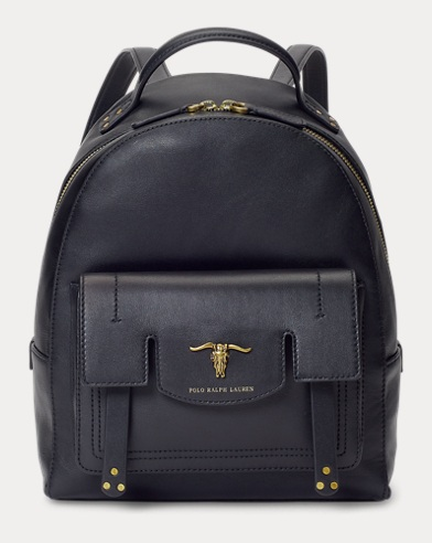 Steer-Head Leather Backpack