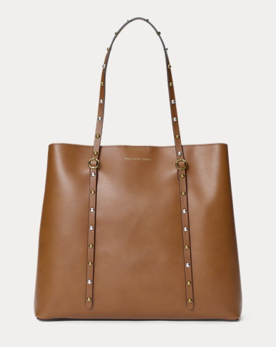 Studded Leather Lennox Tote