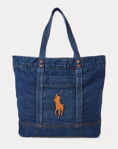Denim Pony Tote Bag