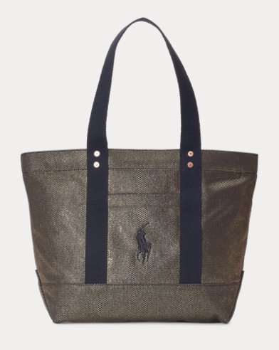 Metallic Canvas Big Pony Tote