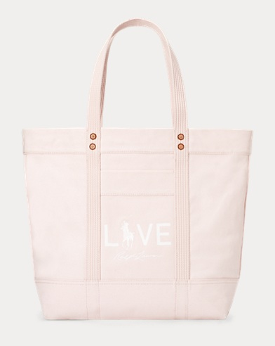 Canvas Love Pink Tote Bag
