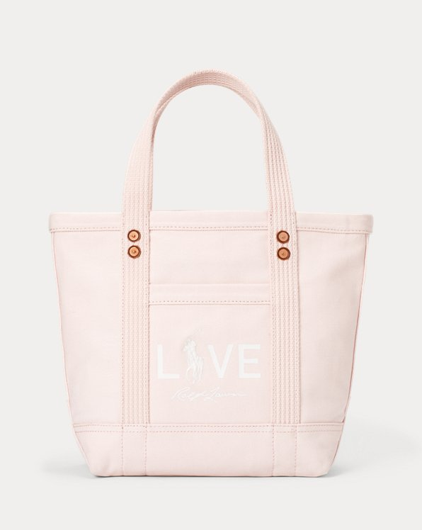 Canvas Small Love Tote Bag
