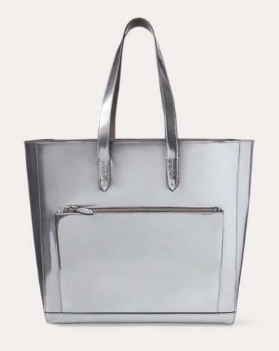 Mirrored Specchio Leather Tote