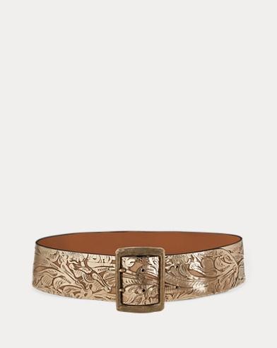 Laser-Cut Leather Belt