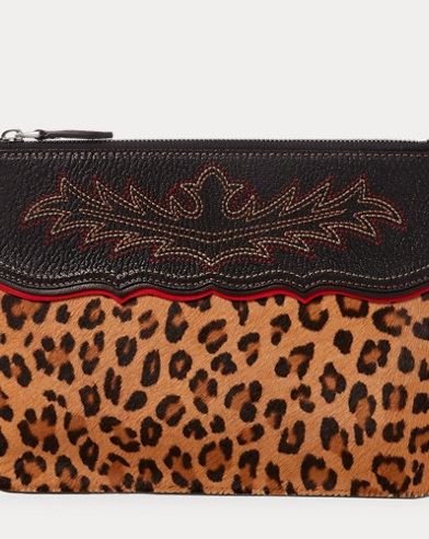 Leopard Haircalf Pouch