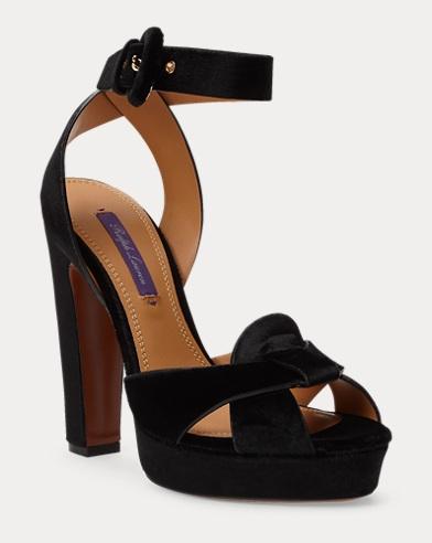 Sandales en velours Kelianne