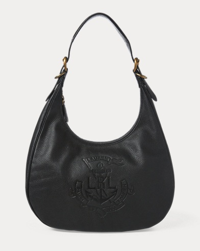 Anchor Leather Hobo Bag