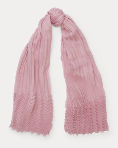 Pleated Cashmere Scarf
