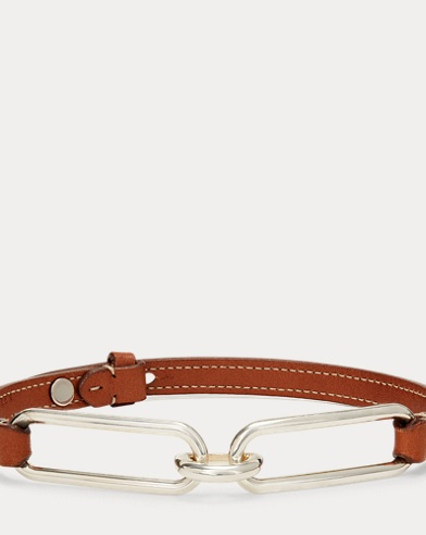 Oval-Link Leather Choker