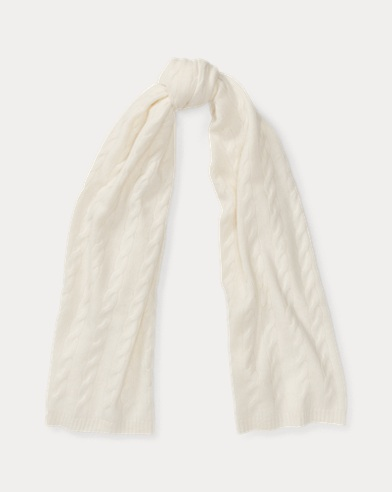 Cable Cashmere Scarf