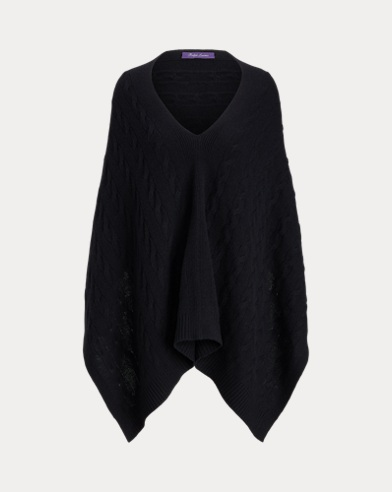 Cable Cashmere Poncho Scarf