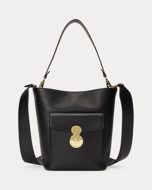 d3a3673b32a2 Ralph Lauren Calfskin Mini RL Bucket Bag 1