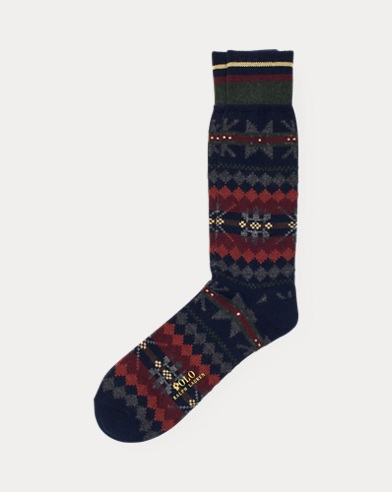 Fair Isle Wool-Blend Socks