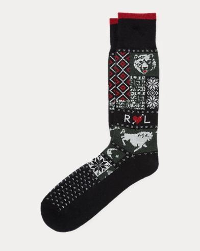 Wool-Blend Crew Socks