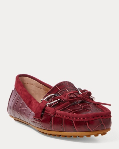 Leder-Loafer Briley mit Prägung