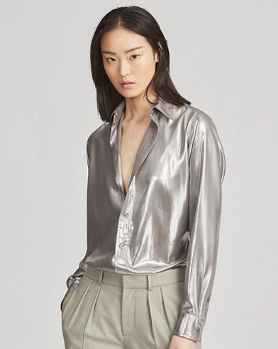 Bacall Crepe de Chine Shirt