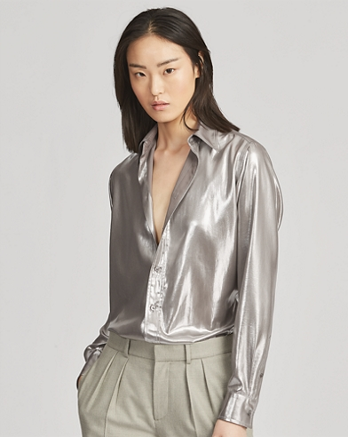 Bluse Bacall aus Crêpe de Chine