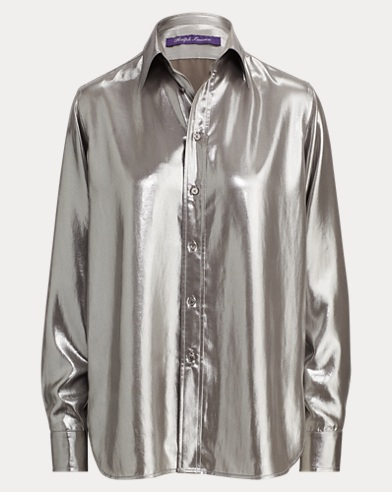 Camicia Bacall in crêpe de Chine