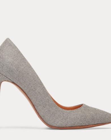 Zapato de tacón de franela Celia Merino